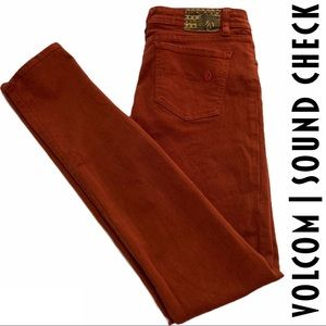 Volcom Sound Check Super Skinny Burnt Orange Jeans